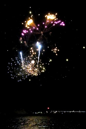 Fire Works from Lake Michigan