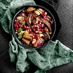 Wild Rice & Rye Stuffing with Cranberry and Pomegranate