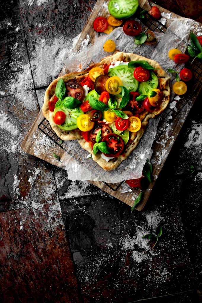 Heirloom Caprese Flatbread   A Bachelor and His Grill